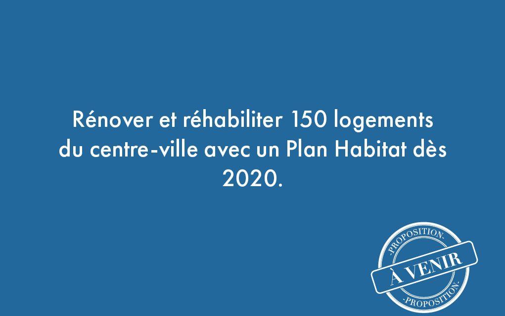 36. Rénover et réhabiliter 150 logements du centre-ville avec un Plan Habitat dès 2020.
