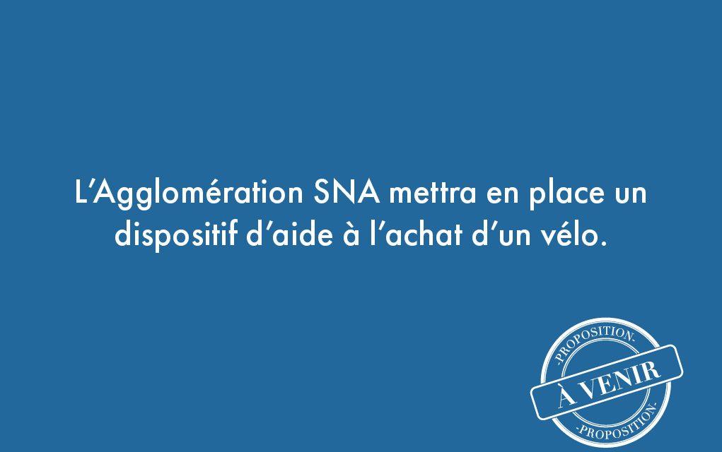 51. L'Agglomération SNA mettra en place un dispositif d'aide à l'achat d'un vélo.