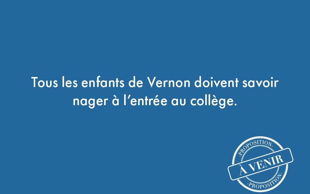 68. Tous les enfants de Vernon doivent savoir nager à l'entrée au collège.