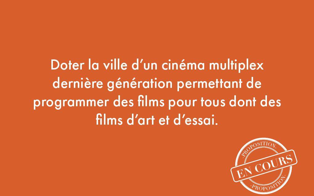 6. Doter la ville d'un cinéma multiplexe dernière génération permettant de programmer des films pour tous dont des films d'art et d'essai.