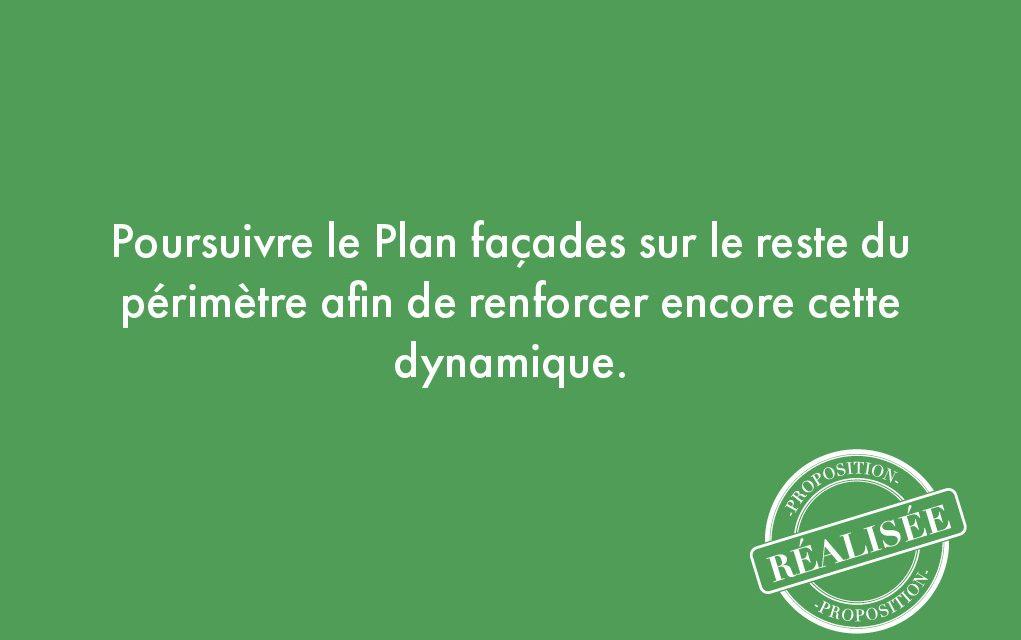 27. Poursuivre le Plan façades sur le reste du périmètre afin de renforcer encore cette dynamique.